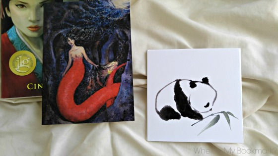Direct order from Mysterious Galaxy included the choice of getting a signed copy of the book and an art piece by Pon herself. I choose the panda one.