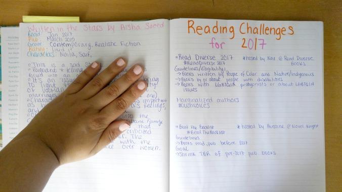 reading journal inside